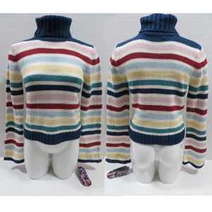 Energie sweater Large NWT striped pullover knit